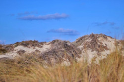 Sand dunes on an island off Formentera