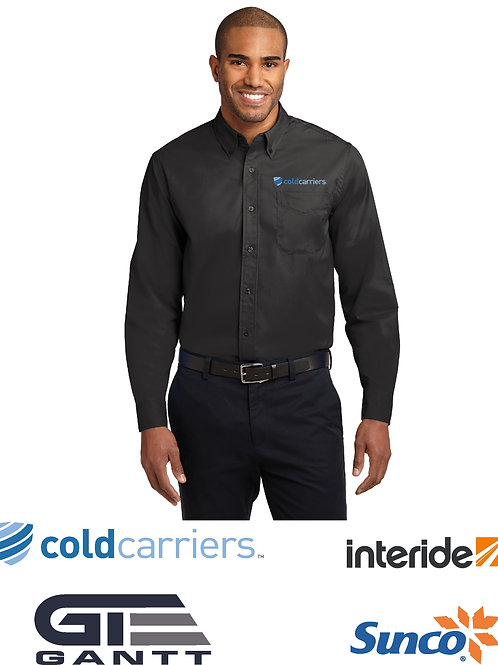 Men's Black Long Sleeve Easy Care Shirt