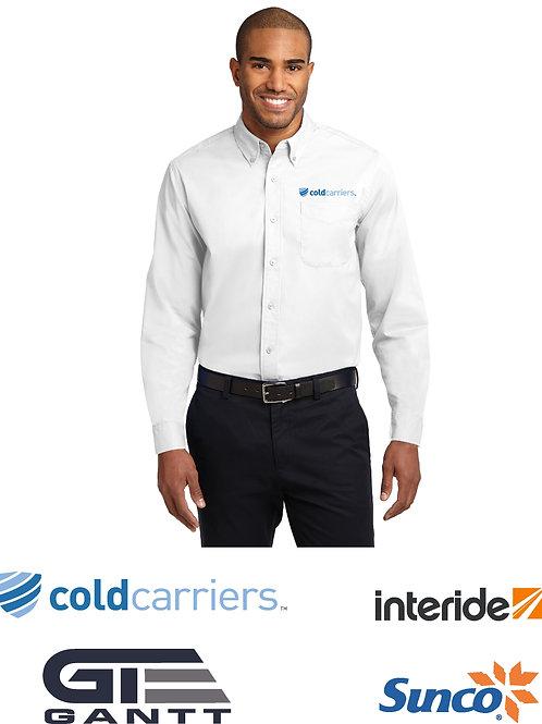 Men's White Long Sleeve Easy Care Shirt