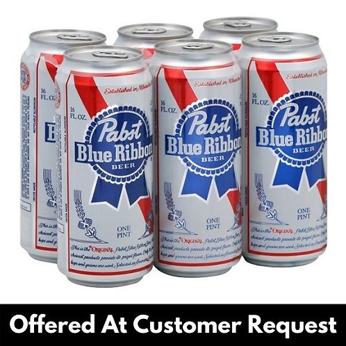 PBR  6 Pack - 16 Ounce Tall Boy Pints