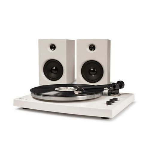 White T-150 Turntable System w/ Bluetooth