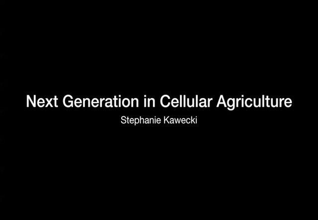 Next Generation in Cellular Agriculture: Stephanie Kawecki