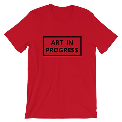 """Art In Progress"" T-Shirt Orchid/Red"