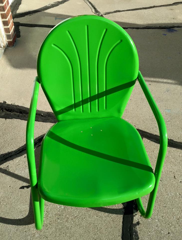 Green Chair - Spring is in the air!