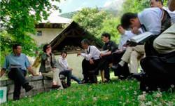 仏・地方自然公園事務所でレクチャーを受ける