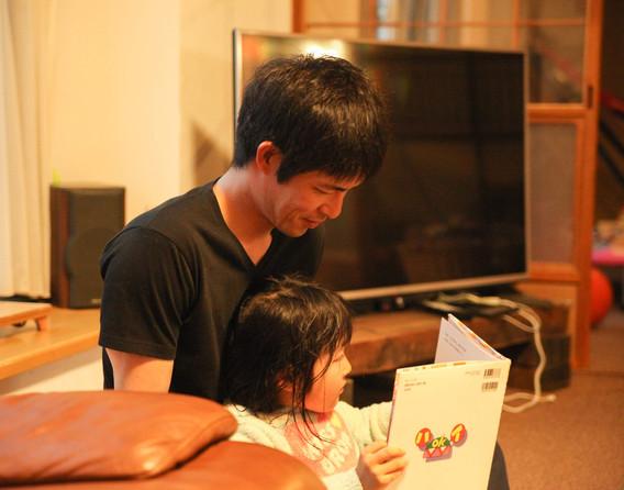 家族との時間を大切にできるのが幸せだと語る江面さん。