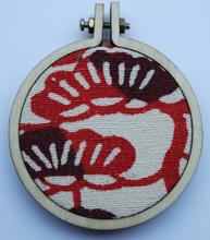 Médaillon textile