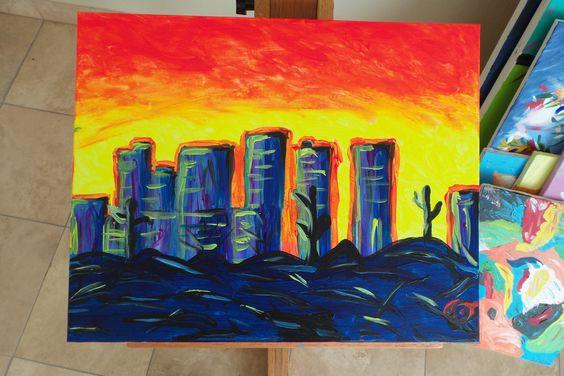 Neon City 2011  20x16