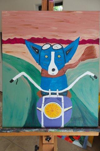 Biker Dog 2001  20x24