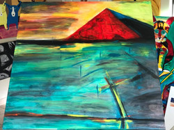 """Pyramid Reflection"" 2017 48x48"