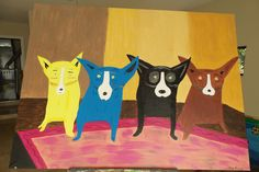 Four Dogs 2001  48x36