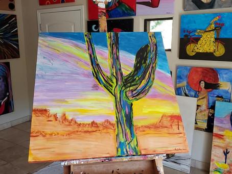 Prickly Painting aka Cactus 1,2&3
