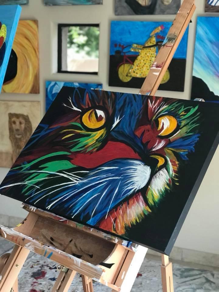 """""""Wild Kitty"""" 24x36  2018"""