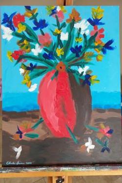 Red Vase 2000  18x24