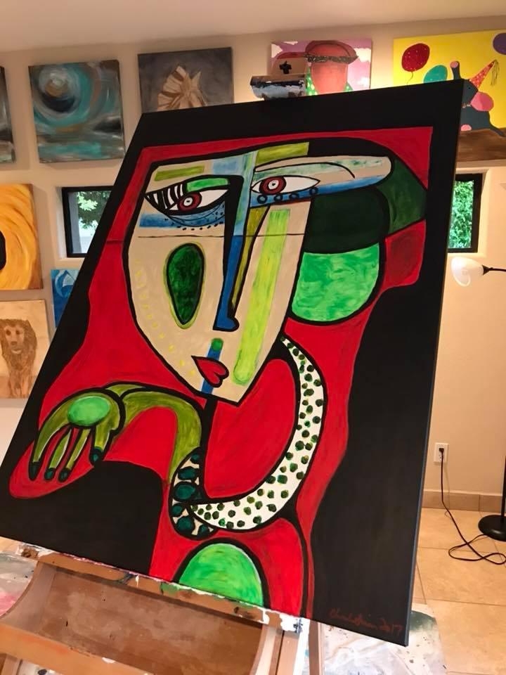 """""""Mayan Man II """" 48 x36"""