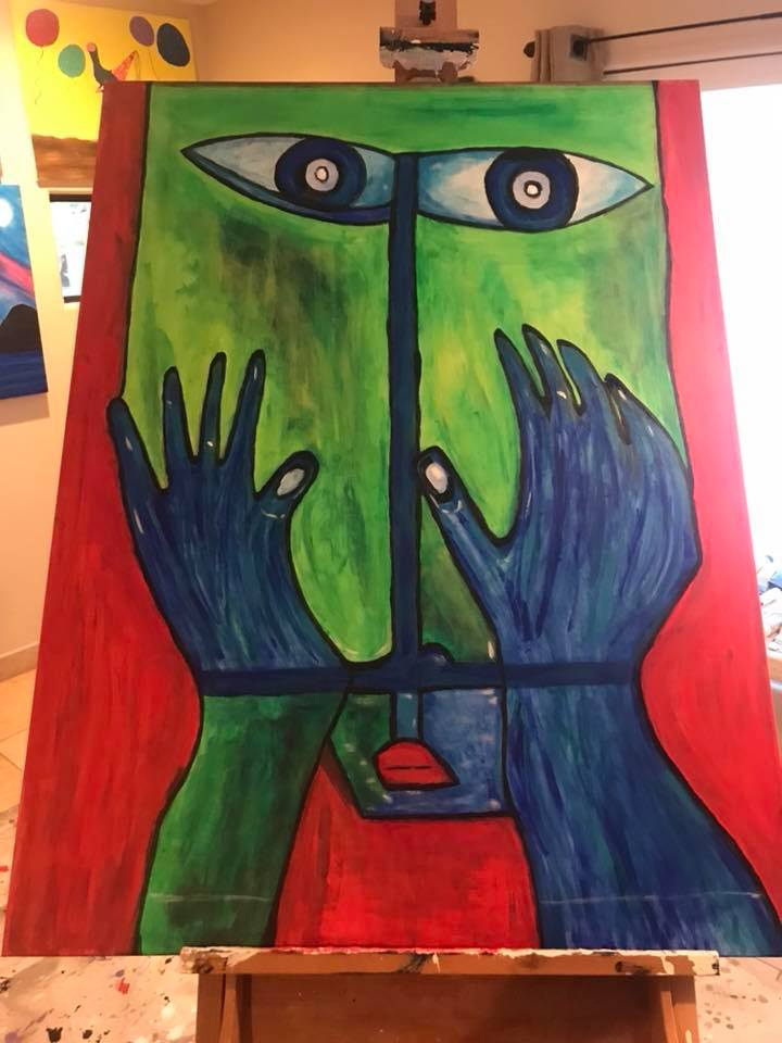 """Mayan Man"" 36x48"