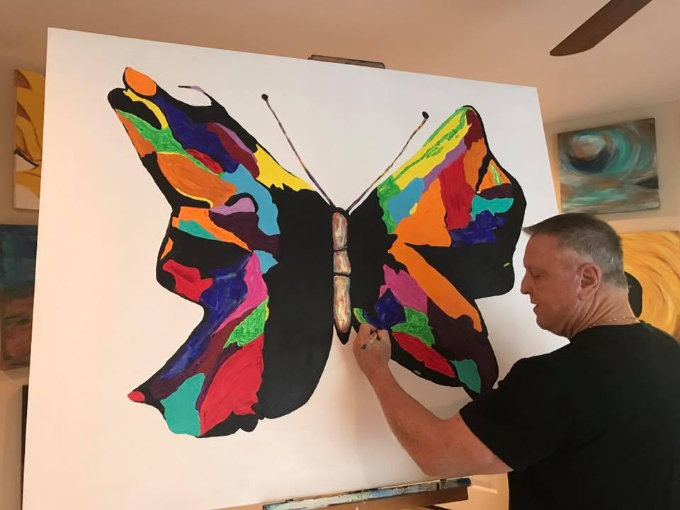 """Papillon"" 48x60 2017"
