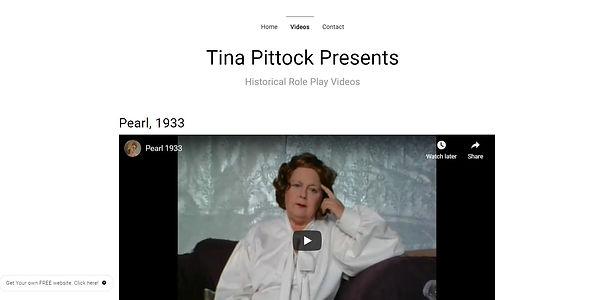 TINA PITTOCK PRESENTS - HISTORICAL ROLE