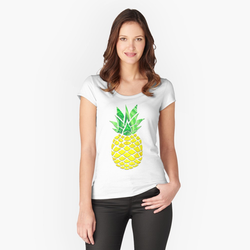 Womens Fitted Scoop T-Shirt