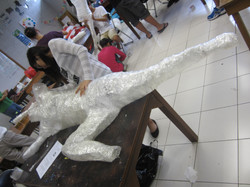 Packing Tape Sculptures