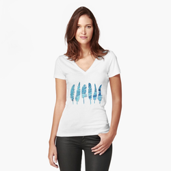 Womens Fitted V-Neck T-Shirt