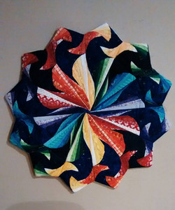 Rainbow Paper-Pieced Wall-hanging