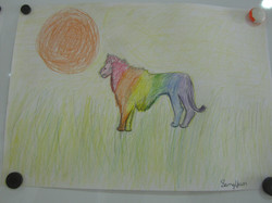 Creative Color Wheel Animals