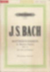 Partition Bach Passion selon St Matthieu