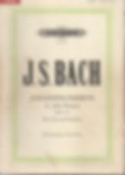 Partition Bach Passion selon St Jean