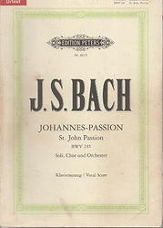 Partition Bach Passion selon St Jean