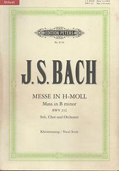Partition Bach Messe en Si mineur