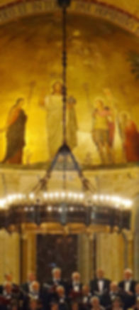 lustre et fresque abbaye d'Ainay_Lyon