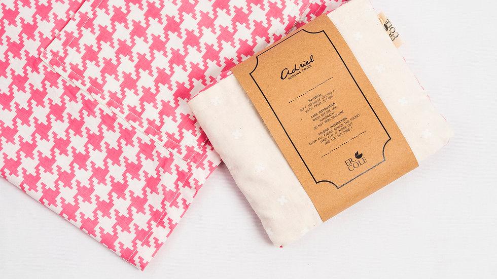Pink White Nursing Cover