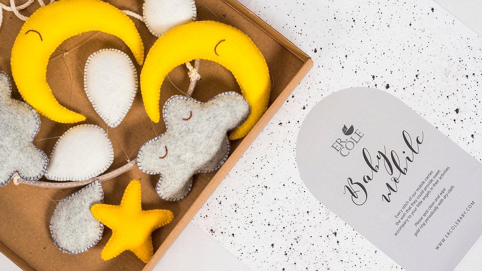 Baby Mobile - Yellow Moons