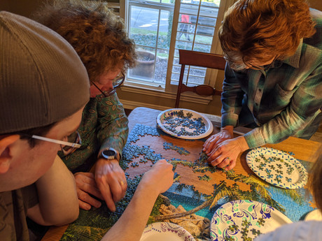 Puzzle with my family