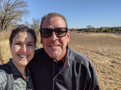 Hiking with my dad