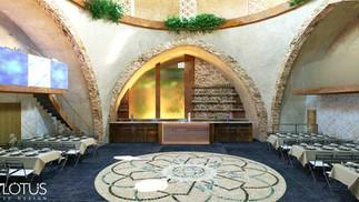 הדמיית פנים לאולם אירועים בסגנון חמאם