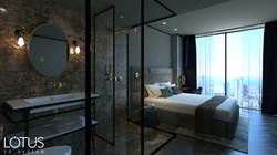 הדמיות פנים - הדמיה לחדר שינה במלון