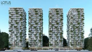 הדמיה למספר בניינים