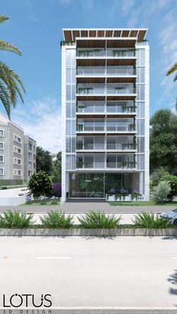 הדמיית חוץ - הדמיית לבניין בתל אביב