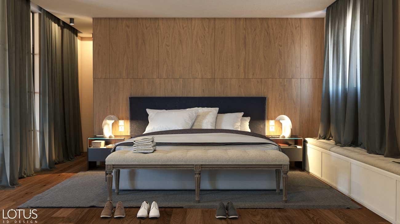 הדמיות פנים - הדמיית חדר שינה