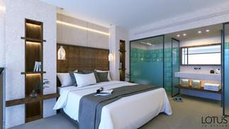 הדמיה לחדר גלריה במלון - חדר שינה