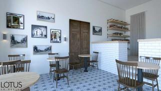 הדמיית פנים לבית קפה - קיוסק