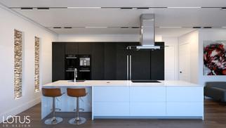 הדמיית פנים למטבח - בעיצוב מודרני נקי