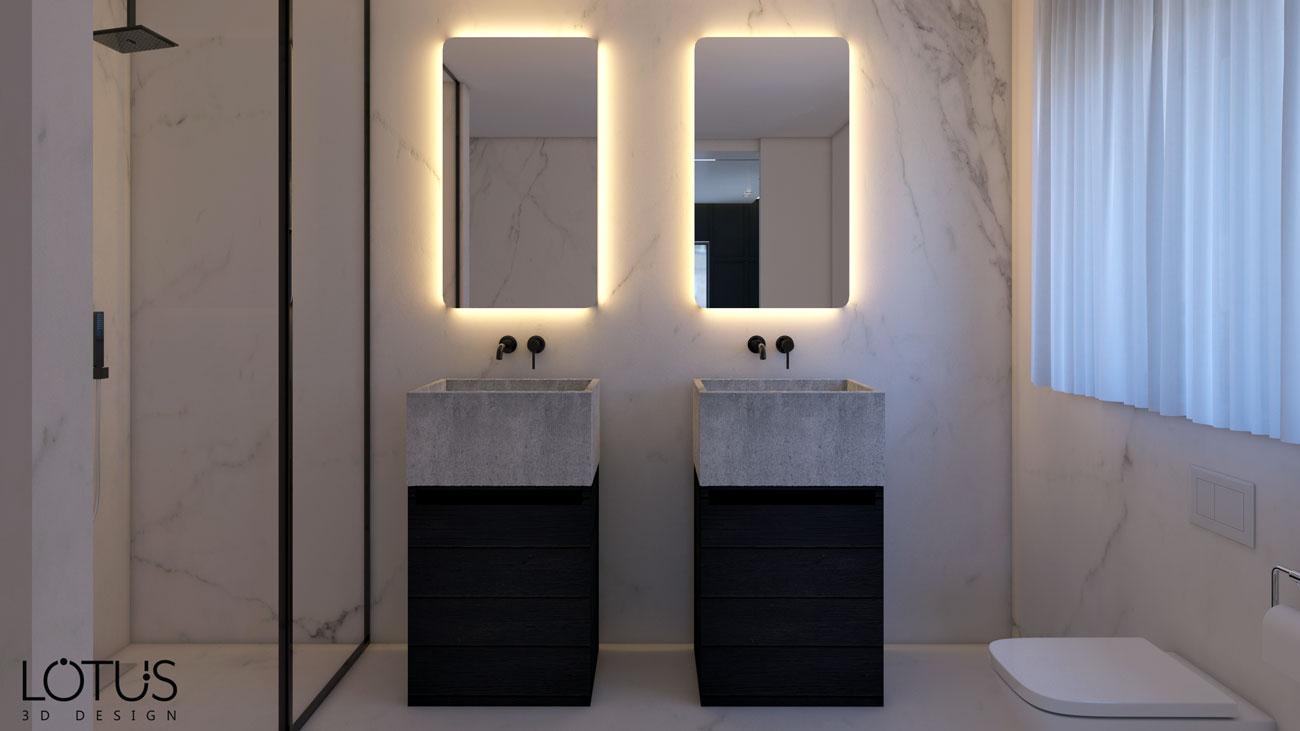 הדמיות פנים - הדמיית שירותים מקלחת