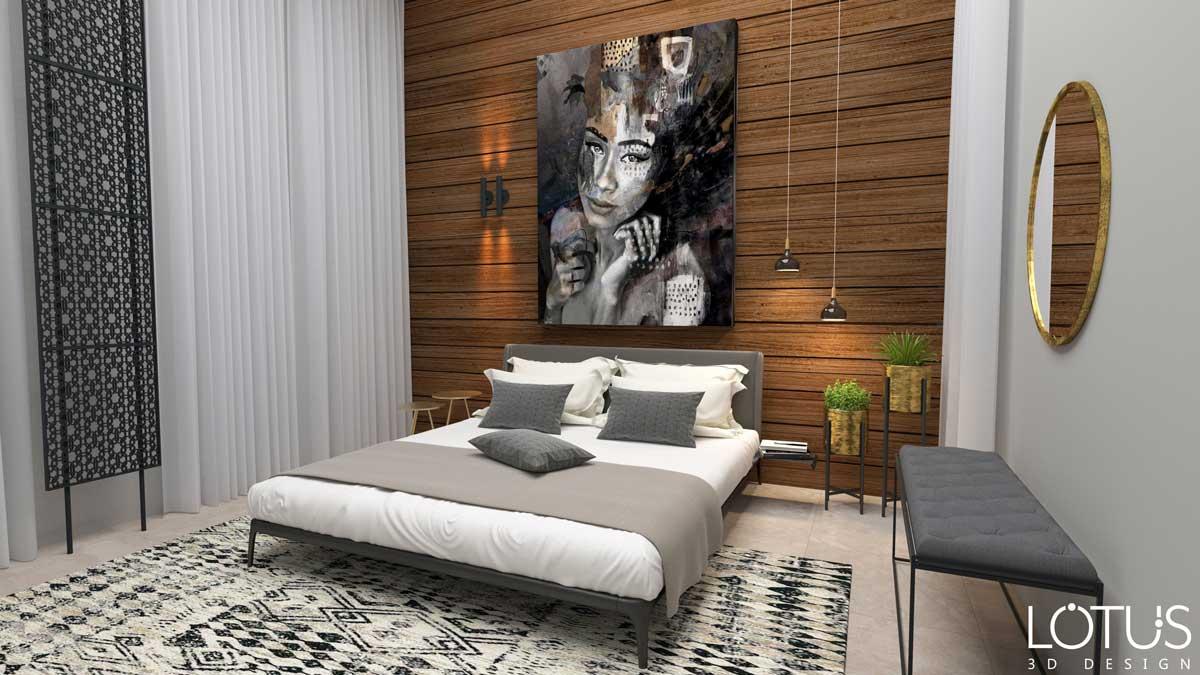 הדמיות פנים - הדמיה של חדר שינה