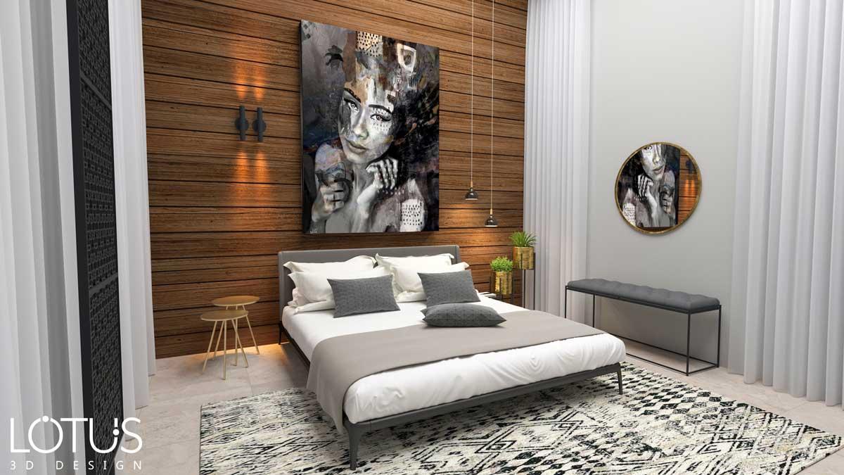 הדמיות פנים - הדמיה לחדר שינה