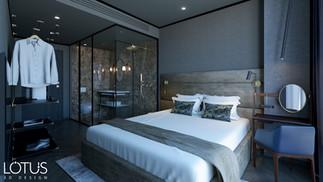 הדמיית פנים לחדר במלון עסקים