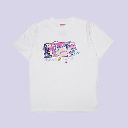 幸運の淚顏 T-shirt(白)