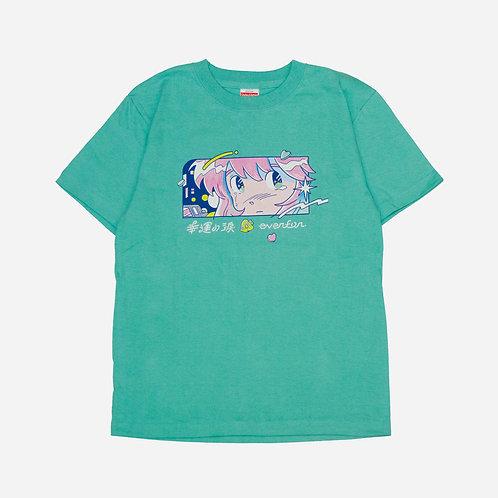 幸運の淚顏 T-shirt(薄荷綠)